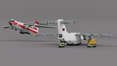 LF-76 (Lego Pilot) Tags: lego ldd aircraft plane ilyushin il76 candid il78 midas beriev a50 mainstay blender freighter transportaircraft