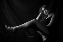 Blondie (sellari.andrea) Tags: people portraitbnw portrait blackwhiteportrait biancoenero bnw blackwhite glamour sexy