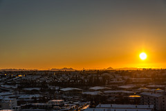 Sunset in Reykjavik (Einar Schioth) Tags: sunset reykjavik sun sunshine sunrays wintersun day canon nationalgeographic ngc keilir mountain photo picture outdoor iceland ísland ice einarschioth