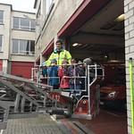 2de leerjaar op bezoek bij de brandweer van Aalst.