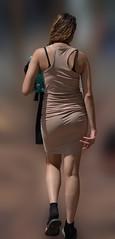 There She Goes (Scott 97006) Tags: woman walks away lady female pretty rear skirt sidewalk back backside beauty