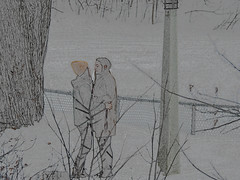 When lovers meet... (Ullysses) Tags: lovers love ottawa ontario canada winter hiver snow neige amour amoureux candid candidphoto lgbt pride embrace glbt