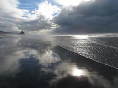 sand as sky (carolyn_in_oregon) Tags: oregon pacificocean cannonbeach