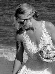 beach bride at SGI (maj488/mike) Tags: bride beach beauty lace marriage blond blonde florida fl saint george island this photo rocks thisphotorocks