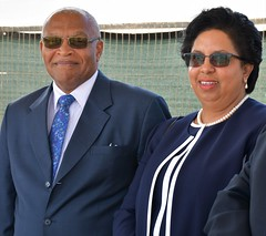 Chief Justice, Hon. Anthony Smellie & Mrs Smellie (Cayman Islands Government Information Services) Tags: cayman royal visit charles prince wales camilla duchess cornwall owen roberts international airport united kingdom great britain