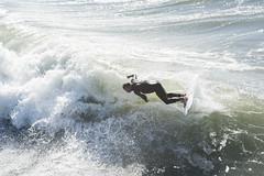 A surfer at Manhattan Beach, LA (Mgungen) Tags: surf surfer manhattanbeach la losangeles nikon nikond810 nikon70200mm sports ocean watersports waves mehmetgungen