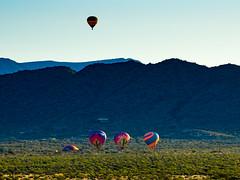 Sunday Morning Ballooning (Daren Grilley) Tags: phoenix sonoran desert preserve balloons ballooning sunrise