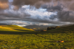 Lead me to the well (wandering indian) Tags: green hill rain clouds california kedardatta landscape nature sunset cloudsstormssunsetssunrises