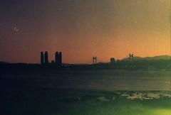 .my world. (Camila Guerreiro) Tags: film revolog revologkolor pentaxmesuper camilaguerreiro busan southkorea analog grain beach sunset