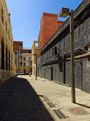Jaffa old Port / Warehouses (Pantchoa) Tags: israël telaviv jaffa port entrepôts anciens bâtiments maisons réverbère ciel bleu murs constructions perspective procheorient moyenorient côte méditerranée rue ruelle