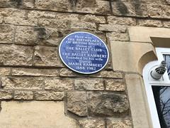 Birthplace of British Ballet (Matt From London) Tags: ballet marierambert 1888 1982 kensington plaque