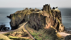 Ruined Fortress. (Flyingpast) Tags: dunnottar castle fortress ruins cliffs sea sky dramatic scenic scotland scottish old coast stonehaven clifftop historichouses landscape