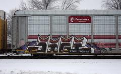 Jigl (quiet-silence) Tags: graffiti graff freight fr8 train railroad railcar art jigl mfk ld autorack ferromex ttgx705696
