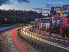 A short moment in time! (Wizard CG) Tags: clifton suspension bridge bristol england uk long exposure landscape epl7 architecture ed ngc world trekker micro four thirds 43 m43 olympus mzuiko digital tourist attraction outdoor serene sky park grass tree tower sunset wizard cg
