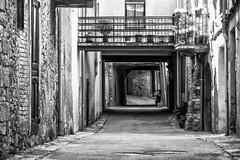2736  Una calle de Guimera, Lleida (Ricard Gabarrús) Tags: calle rue street villa rustico rural blancoynegro callejon callejuela ricardgabarrus olympus ricgaba