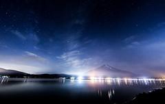山中湖 Lake Yamanaka (T.Muratani) Tags: 山梨県 夏 富士山 星撮