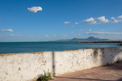 Tunis, Tunisia (f.d. walker) Tags: africa northafrica tunis tunisia bag illusion cloud clouds sky street photography candid streetphotography candidphotography documentary color colorphotography mystery mysterious sunlight shadow surreal strange sea ocean city colors