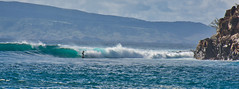 Honolua Bay Surfing (Kirt Edblom) Tags: maui mauihawaii hawaii surf surfboard gaylene wife water waves waterscape milf bay wave rocks rockformation cliff pacific pacificocean ocean blue bluesky bluewater molokai breakers seascape kirt kirtedblom edblom luminar nikon nikond7100 nikkor18140mmf3556