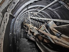 We're goin' in boys (photography_isn't_terrorism) Tags: mine coalmine coal conveyor abandoned rust rusted rusty underground