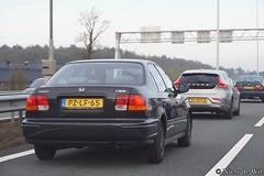 1997 Honda Civic Sedan (NielsdeWit) Tags: nielsdewit car vehicle pzlf65 a12 highway driving snelweg honda civic saloon sedan 1997 hl565b thpf84
