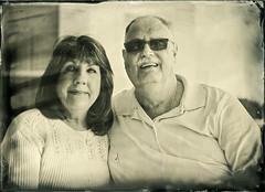 Mom & Dad (Blurmageddon) Tags: seneca8 5x7 largeformat wetplatecollodion epsonv700 moderncollodion coppersulfatedeveloper vinegardeveloper alumitype newguycollodion momanddad parents portrait