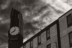 Arkaden (Biff_Brown) Tags: gothenburg sweden monochrome panasonicg6 affinityphoto sepia clock clocktower lumix
