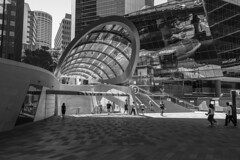 wynyard (Greg M Rohan) Tags: reflection streetlife people buildings building architecture blackwhite blackandwhite monochrome australia sydney wynyard bw 2018 d750 nikkor nikkon