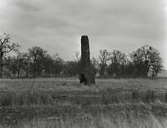 lone chimney on 4x5 film (Garrett Meyers) Tags: autograflex4x5 garrettmeyers garrett meyers largeformat lf graflex graflex4x5 easternsierras easternsierra film filmphotographer blackandwhitefilm homedeveloped grass winter cold highaltitude