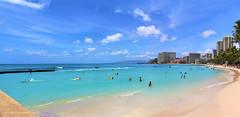 Waikiki Beach, Waikiki, Honolulu, Oahu, Hawaii, USA (Black Diamond Images) Tags: waikikibeach waikiki honolulu oahu hawaii usa beach westernusatrip2018 2018 canond60 sigma1770 1770 panorama msice msicepanorama microsofticepanorama sky seascape landscape hawaiianbeaches beachlandscapes sea seascapes usabeaches