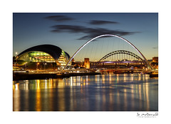 Dusk on the Tyne (Jo McD) Tags: gateshead sage tynebridge tyne bridge longexposure nightphotography