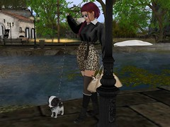 walk already ... (Tympany) Tags: maitreya laq rina bento mesh avatar blog beautiful fluxsurmer sim pixel virtual mbirdie skirt animalprint sweater mooslook rkkn avalon boots black siamese chi chihuahua chichi spot spike puppy dog cat kitty pets animals leash walkingthedog walking water pond river pool france europe village european handbag alchemy birdy epiphany vibes glasses shades olqinu stayweird odd unique kokolores tilda redhead redhair auburn female woman fashion leather knits wool stockings socks combatboots buildings house streetlamp leopardprint