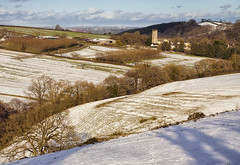 Tedburn St Mary (Christian Hacker) Tags: tedburnstmary devon landscape winter snow hills fields trees clouds church sunny village rural countryside canoneos50d tamron1750mm uk rollinghills agriculture picturesque scenic snowcovered farmland farming explored inexplore explore