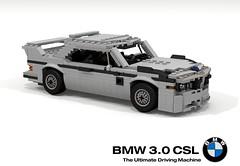 BMW E9 3.0 CSL (1972) (lego911) Tags: bme e9 csl 1972 1970s classic coupe racer 30 touringcar lightweight german germany auto car moc model miniland lego lego911 ldd render cad povray afol batmobile foitsop
