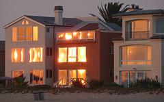Sunset on a Californian Beach (ArtGordon1) Tags: sunset evening california usa beach reflections reflection davegordon davidgordon daveartgordon davidagordon daveagordon artgordon1 house