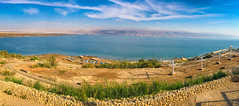 Panoramic view of the Beach along the Dead Sea in the West Bank (mbell1975) Tags: kalya westbank palestine ps panoramic view beach along dead sea west bank israel il middleeast middle east deadsea meer pano panorama vista lake jordan river