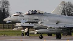 LINE UP (MANX NORTON) Tags: raf coningsby egxc tornado hawk tucano qra typhoon eurofighter a400 atlas f35 lightning