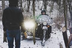 First winter day (Krabofeya) Tags: winter belarus moto motorcycle sidecar zebra sovietmoto ussr forest light bikers offroad sony a6000 kit motoretro