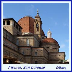 San Lorenzo (fr@nco ... 'ntraficatu friscu! (=indaffarato)) Tags: italia italy toscana firenze florence chiesa centrostorico lorenzo sanlorenzo