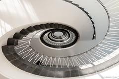 Staircase (bjoernahrensfotografie) Tags: münchen munich stairs staircase stufen treppen treppenhaus stiegenhaus abstract abstrakt schwarzweis black white architecture architektur
