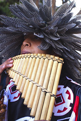 Indio with pan flute, Ecuador (klauslang99) Tags: klauslang indio pan flute ecuador instrument southamerica andes person man aboriginal anthropology etno etnology