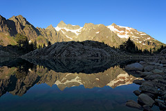 Lake Ann Adventures (deanhebert) Tags: mountains reflection lake summer nature landscape hiking shoreline outdoors destination washington usa mount baker wilderness shuksan