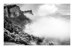 Croix du nivolet2 (Mathieu Rougnon) Tags: montagne alpes france mountain noirblanc blackwhite clouds nuages fôrets forest d800 nikon chambéry croix nivolet lacdubourget aixlesbains savoie hautesavoie ciel sky arbres tree