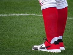 Fancy Footwear (CODA: MARINE 475) Tags: baseball stirrups socks red white black nike shoes coach