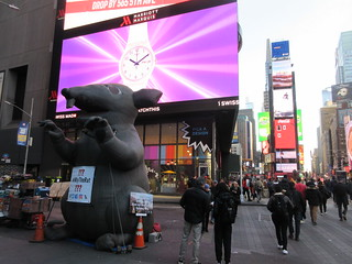 2019 Giant Strike Rat Balloon Corner of 45th St NYC 3696