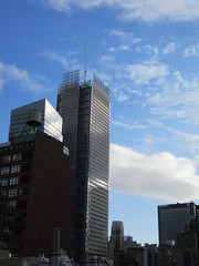 2019 February Building Cloud Reflection 2575 (Brechtbug) Tags: 2019 february afternoon light again virtual clock tower from hells kitchen clinton near times square broadway nyc 02272019 new york city midtown manhattan winter weather building breezy cloud hell s nemo southern view
