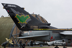 TORNADO-GR4-AF-ZG775-8-3-19-RAF-MARHAM-(6) (Benn P George Photography) Tags: rafmarham 8319 bennpgeorgephotography tornadofinale mightyfin tornado gr4 af zg775 dh zd716 batman goldstars 9sqn 31sqn nikon nikond7100 nikon18105vr nikon24120f4 royalairforce