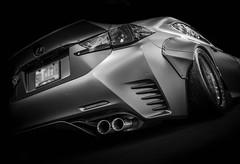 RC (Dave GRR) Tags: lexus rc importfest toronto auto show 2018 monochrome mono black white bw widebody bodykit tuning custom rims olympus