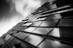 Mainzero II (s.W.s.) Tags: frankfurt germany architecture architectural monochrome dark neutraldensity longexposure clouds sky urban glass reflections nikon lightroom