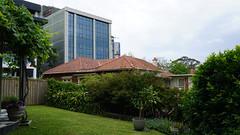 A side view from a Greenwich garden (spelio) Tags: dec 2018 sydney trips lj tm