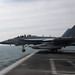 An EA-18G Growler launches from USS John C. Stennis (CVN 74).
